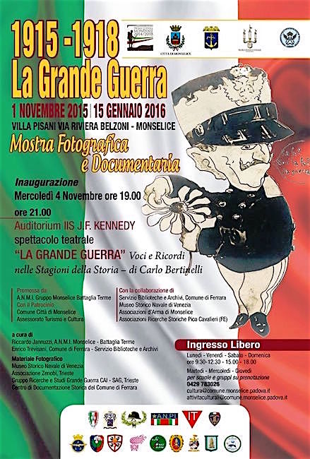 1.11.2015 - 15.1.2016 a Monselice - www.lavocedelmarinaio.com