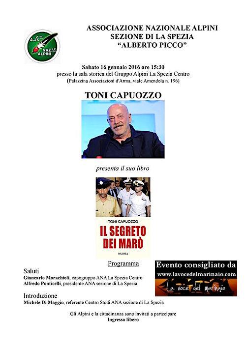 16.1.2016 a La Spezia - toni capuozzo presenta il libro il segreto dei marò - www.lavocedelmarinaio.com