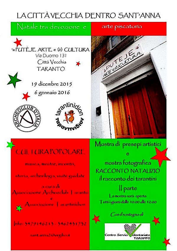19.12.2015 - 6.1.2016 a Taranto Vecchia - www.lavocedelmarinaioc.om