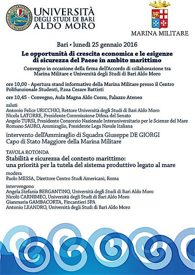 25.1.2016 a Bari convegno - www.lavocedelmarinao.com
