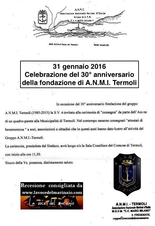 31.1.2016 a Termoli 30° della fondazione A.N.M.I. - www.lavocedelmarinaio.com