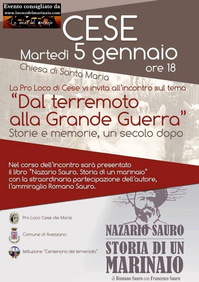 5.1.2016 a Cese - Dal Terremoto alla Grande Guerra - www.lavocedelmarinaio.com