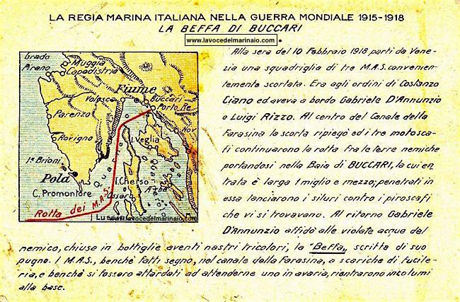 10.2.1918 la beffa di BUCCARI - www.lavocedelmarinaio.com