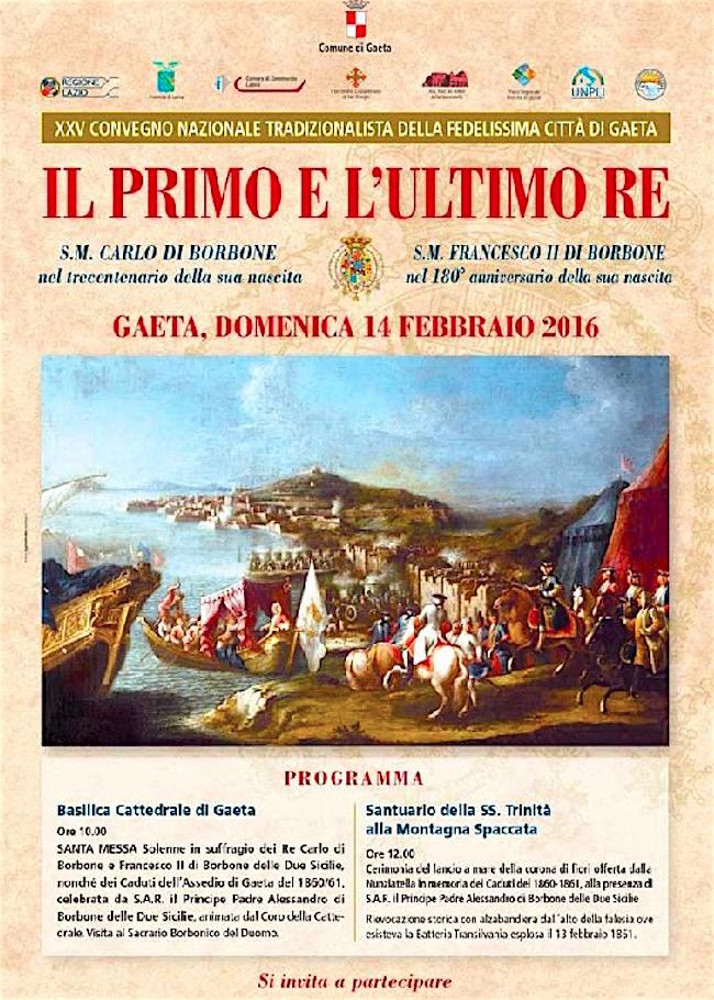 14.2.2016 a Gaeta il primo e l'ultimo re - www.lavocedelmarinaio.com