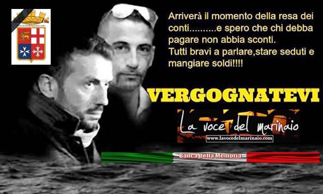 4 anni di bugie sui due marò Massimiliano Latorre e Salvatore Girone - www.lavocedelmarinaio.com