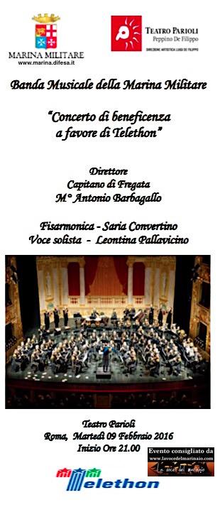 9.2.2016 banda della marina al teatro parioli di roma - www.lavocedelmarinaio.com