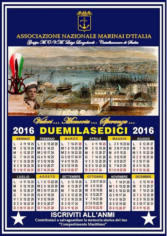 CALENDARIO ANMI STABIA 2016 - www.lavocedemarinaio.com
