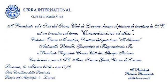 10.3.2016 a Livorno comunicazione ed etica