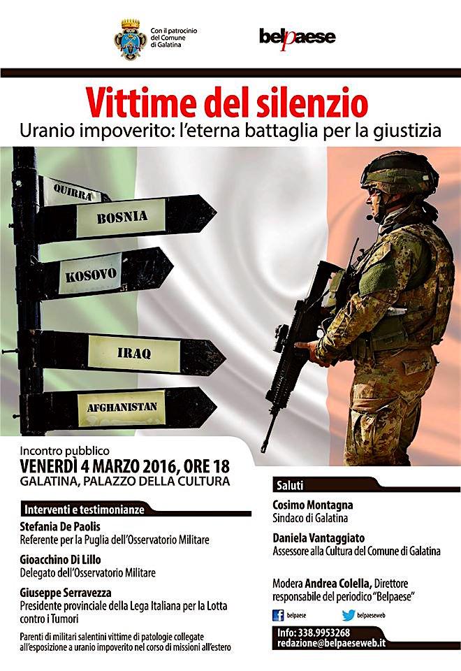 4.3.2016 - vittime del silenzio - www.lavocedelmarinaio.com
