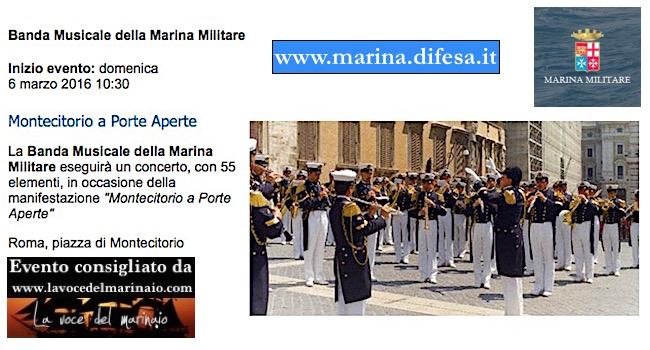 6.3.2016 a Roma Banda della Marina - www.lavocedelmarinaio.com