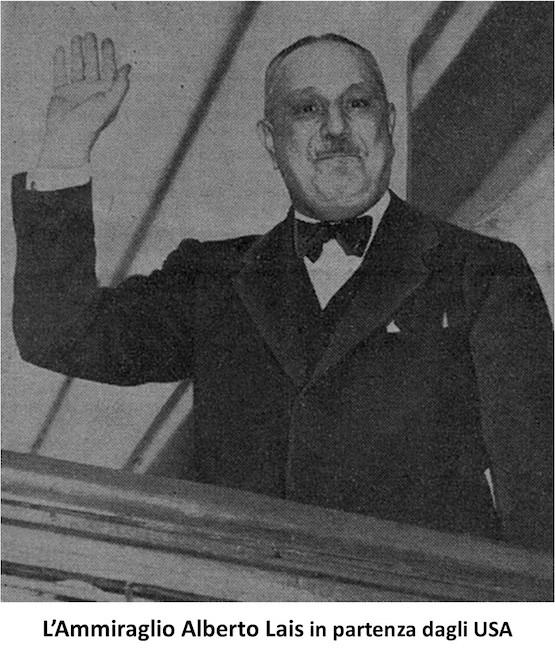 Ammiraglio Alberto Lais in partenza dagli U.S.A. - www.lavocedelmarinaio.com