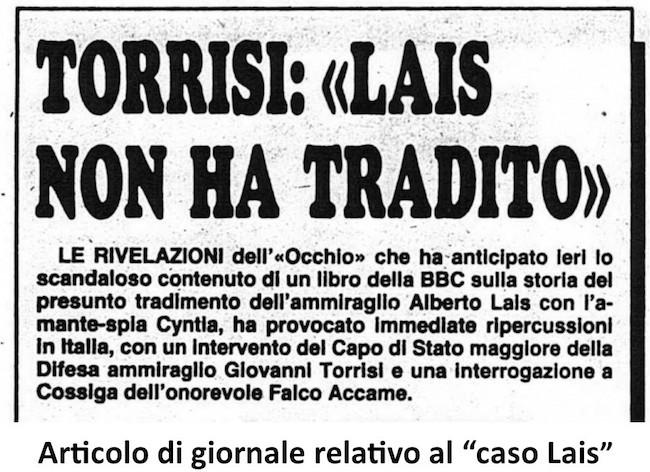 Articolo di giornale relativo al caso lais - copia - www.lavocedelmarinaio.com