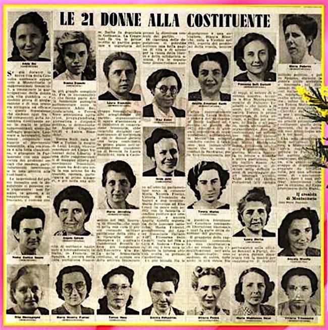 Le 21 donne alla Costituente - www.lavocedelmarinaio.com