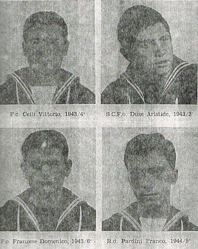 Le vittime della collisione fra le navi Castore ed Etna avvenuta il 22.3.1965 - www.lavocedelmarinaio.com