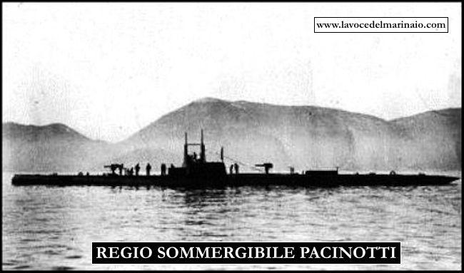 regio sommergibile Pacinotti (foto U.S.M.M.) - www.lavocedelmarinaio.com