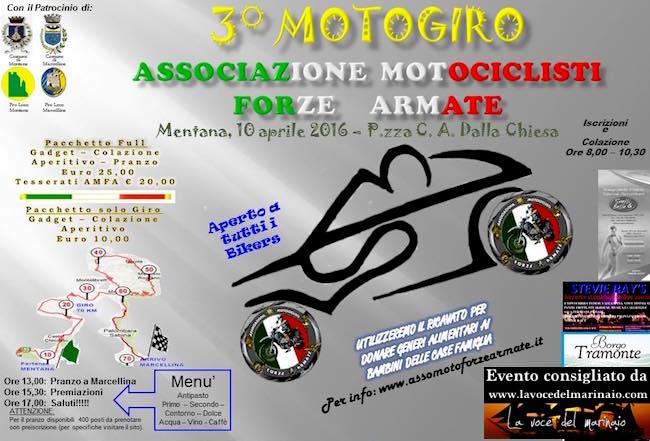 10.4.2016 a Mentana  - 3° motoraduno centauri difesa - www.lavocedelmarinaio.com