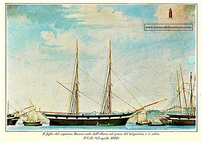 13.4.1852 Capitano Razeto P.G.R. - www.lavocedelmarinaio.com