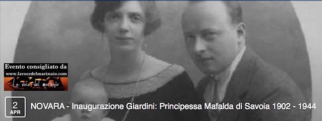 2.4.2016 a Novara inagurazione giardini Principessa Mafalda di Savoia - www.lavocedelmarinaio.com