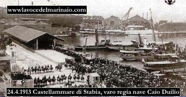 24-aprile-1913-varo-della-nave-da-battaglia-Caio-Duilo-www.lavocedelmarinaio.com