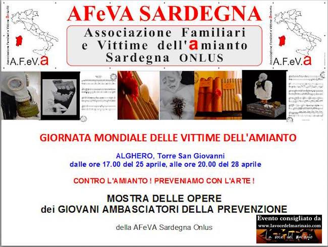 25.4.2016 ad Alghero per le vittime dell'amianto - www.lavocedelmarinaio.com