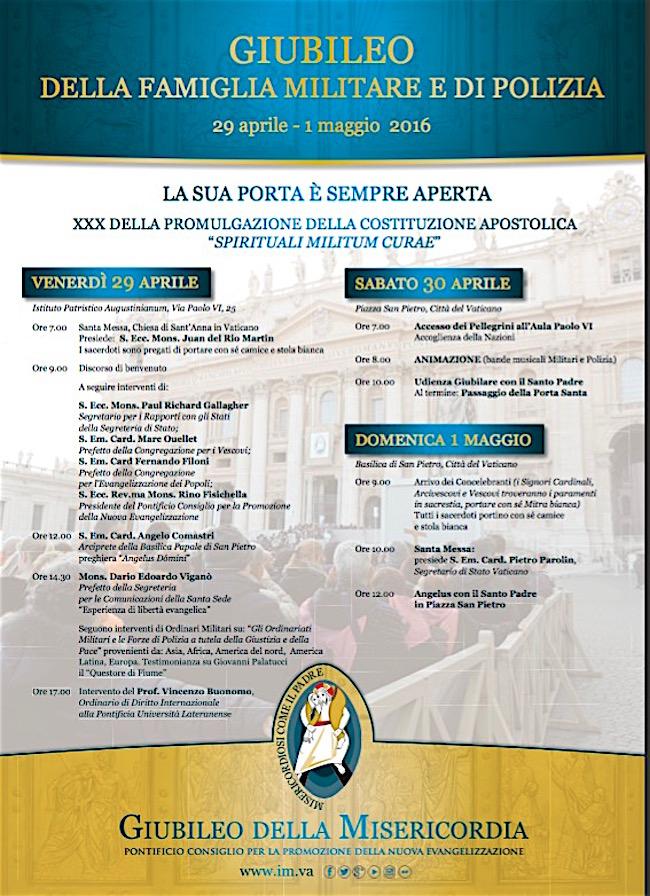 29.4 - 1.5.2016 - Giubileo della Misericordia per i Militari a Roma - www.lavocedelmarinaio.om