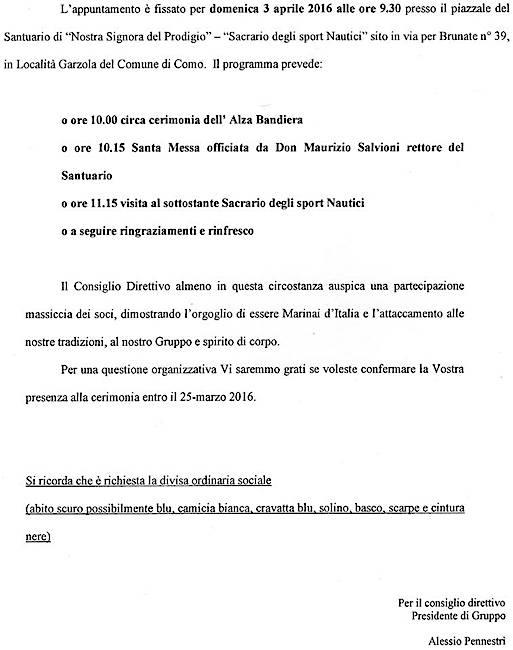 3.4.2016 a Como - www.lavocedelmarinaio.com