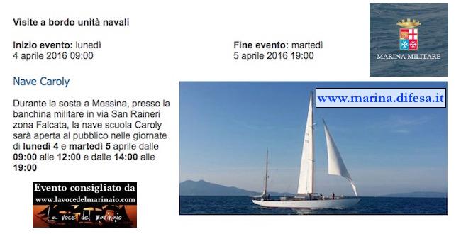 4-5.4.2016 a Messina visita al pubblico di nave Caroly - www.lavocedelmarinaio.com