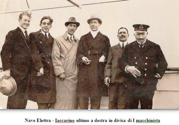 Aniello Iaccarino su nave Elettra - www.alvocedelmarinaio.com