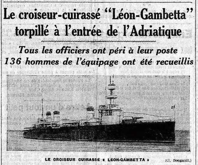 La stampa d'epocariporta la notizia del Leon Gambetta - www.lavocedelmarinaio.com - foto internet