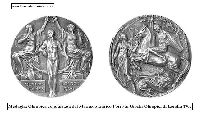 Medaglia olimpica conquistata dal Marinaio Enrico Porro - www.lavocedelmarinaio.com