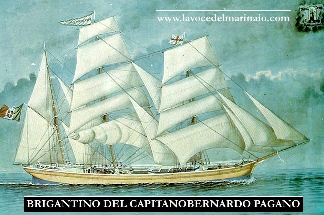 12-13.5.1881 nbrigantino del capitano Bernardo Pagnao - p.g.r. - www.lavocedelmarinaio.com