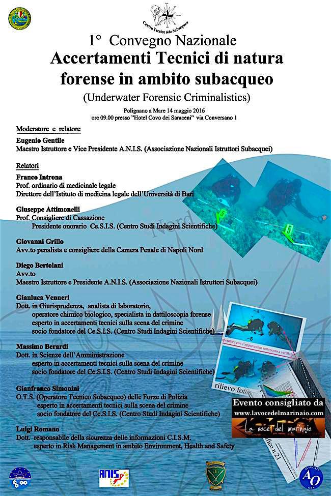 14.5.2016 a Polignano a mare convegno anis  www.lavocedelmarinaio.com