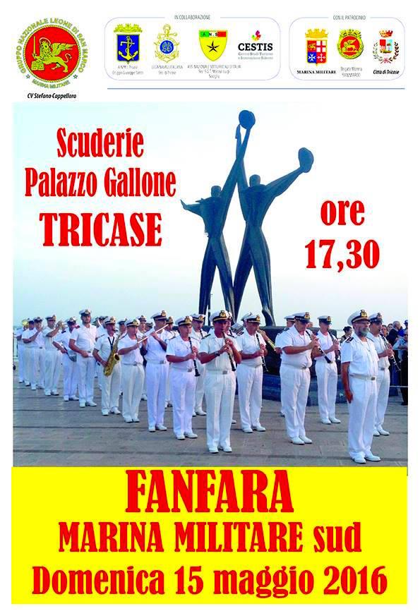 15.5.2016 a Tricase fanfare della Marina - www.lavocedelmarinaio.com