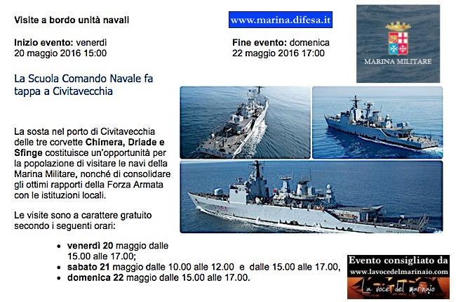 20-22.5.20156 a Civitavecchia visite a bordo unita navali della Marina Militare - www.lavocedelmarinaio.com
