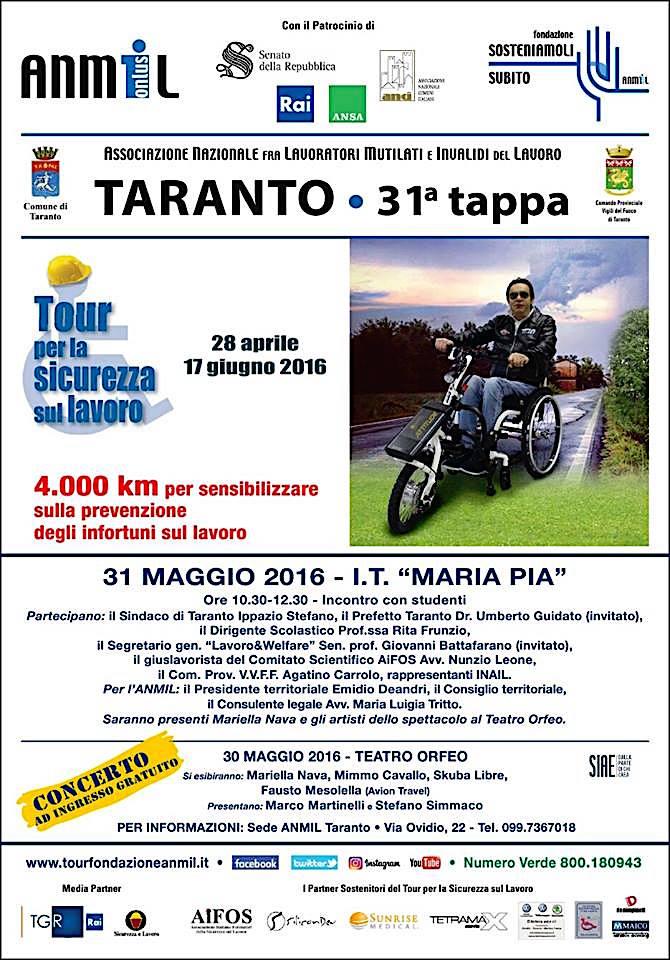30.5.2016 a Taranto per la sicurezza sul lavoro - www.lavocedelmarinaio.com
