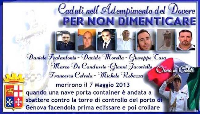 7.5.2013 in ricordo dei caduti nel porto di Genova - www.lavocedelmarinaio.com