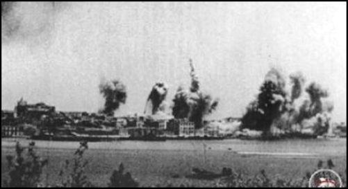 Bombardamenti su Augusta (f.p.g.c. Francesco Carriglio per www.lavocedelmanrinaio.com)