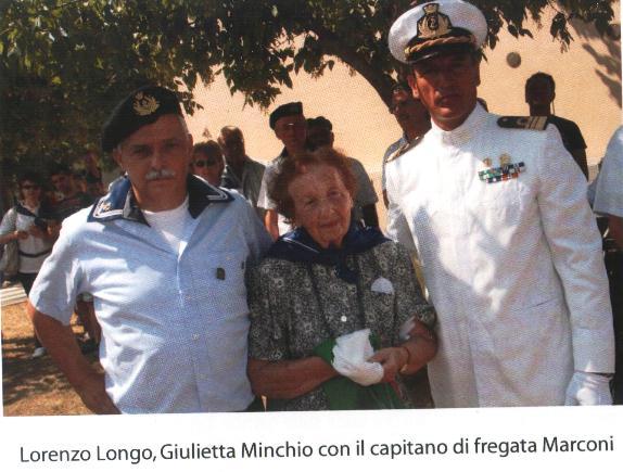 Lorenzo Longo, Giulietta Minchio e il Capitano di Fregata Marconi - Tratta dal libro De Maris Profundis di L.Longo-L.Vresta f.p.c. a www.lavocedelmarinaio.comn