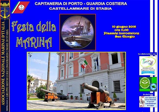 10.6.2016 a Castellammare di Stabia Festa della Marina - www.lavocedelmarinai.com