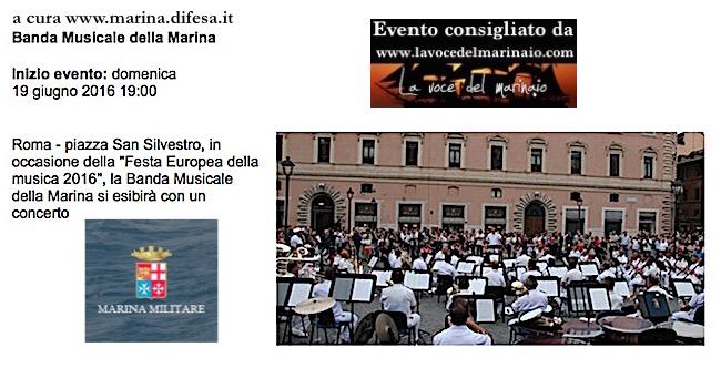 19.6.2016 a Roma esibizione della Banda Centrale della Marina - www.lavocedelmarinaio.com