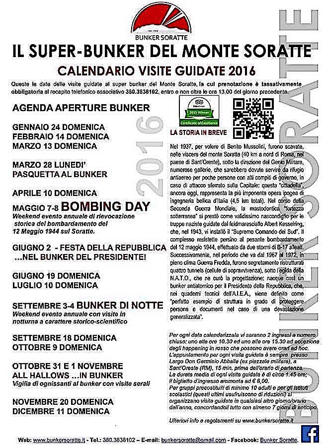 2.6.2016 bunker soratte - www.lavocedelmarinaio.com