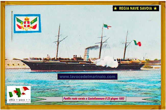 23.6.1883 nave savoia yacth - www.lavocedelmarinaio.com