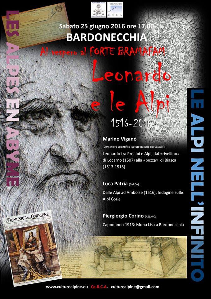 25.6.2016 a Bardonecchia Leonardo e le Alpi - www.lavocedelmarinaio.com