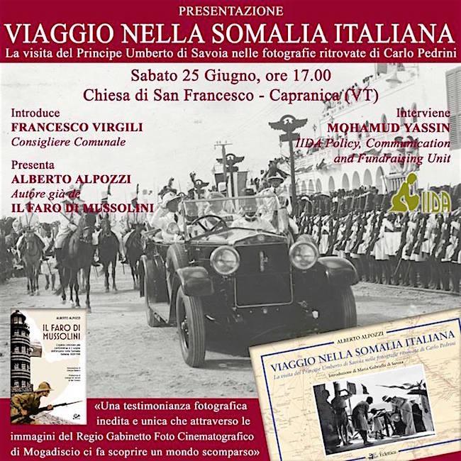 25.6.2016 a Capranica presentazione del libro Viaggio nella Somalia Italiana di Alberto Alpozzi - www.lavocedelmarinaio.com