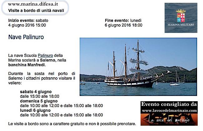 4-6.6.2016 a Salerno visite a bordo di bave Palinuro - www.lavocedelmarinaio.com