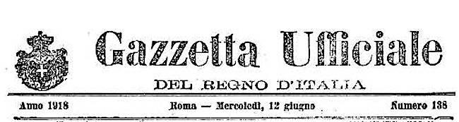 Gazzetta Uffficiale del 12.6.1918 (1)
