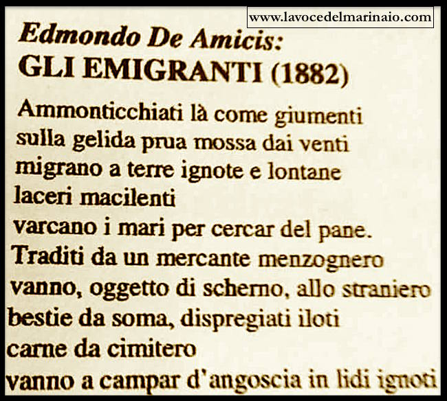 gli emigranti di edmodo de amicis - www.lavocedelmarinaio.com