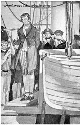 stampa impiccaggione ammiraglio Francesco Caracciolo - www.lavocedelmarinaio.com