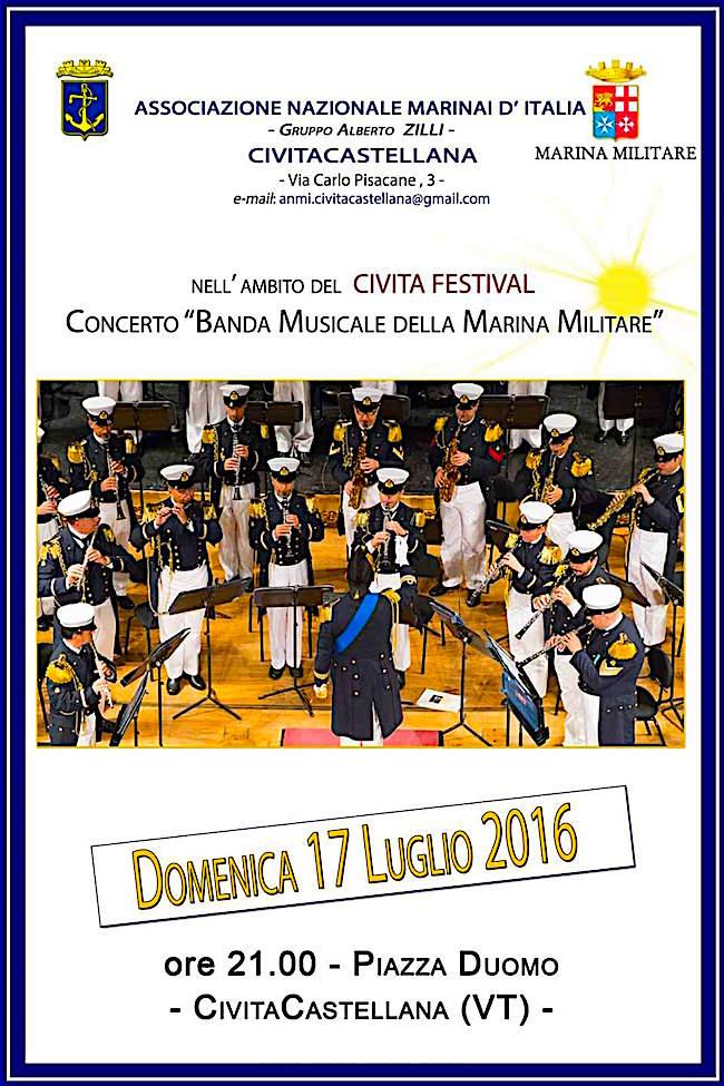 17.7.2016 a Civita Castellana (VT) esibizione della Banda Musicale della Marina Militare - www.lavocedelmarinaio.com