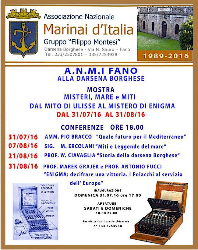 31.7.2016 a Fano mostra su Misteri, mare e miti - www.lavocedelmarinaio.com